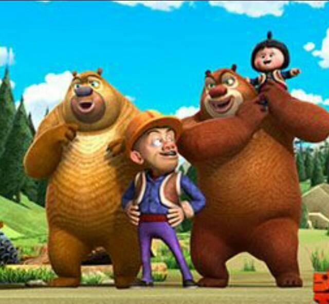 我家豆宝最喜欢的卡通人物就是熊出没中那两只憨态可掬的熊,尽管两只
