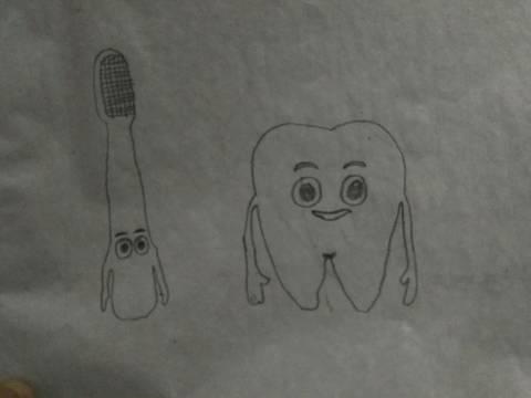 画牙刷简笔画图片
